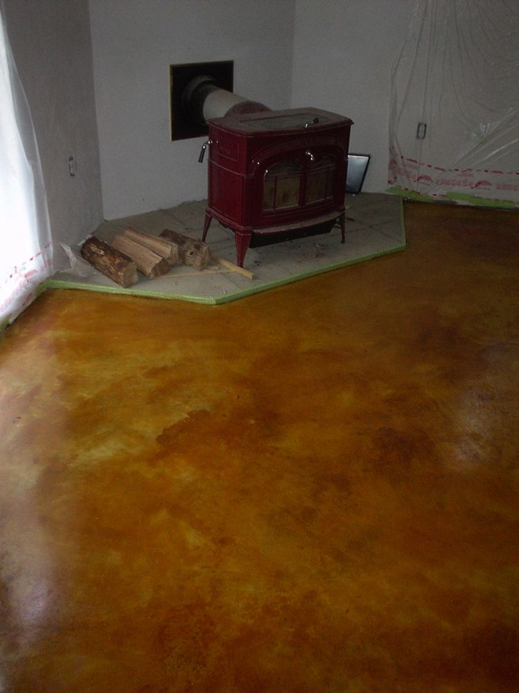 Mission Tan Stained Concrete