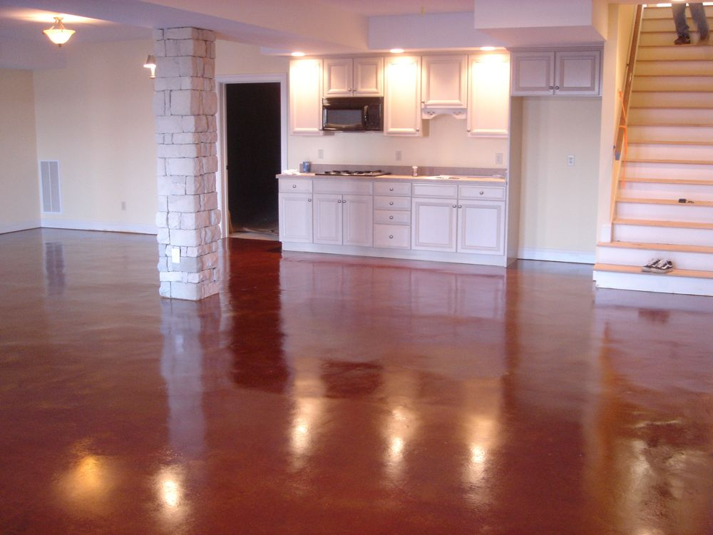 Terra cotta Stained Concrete