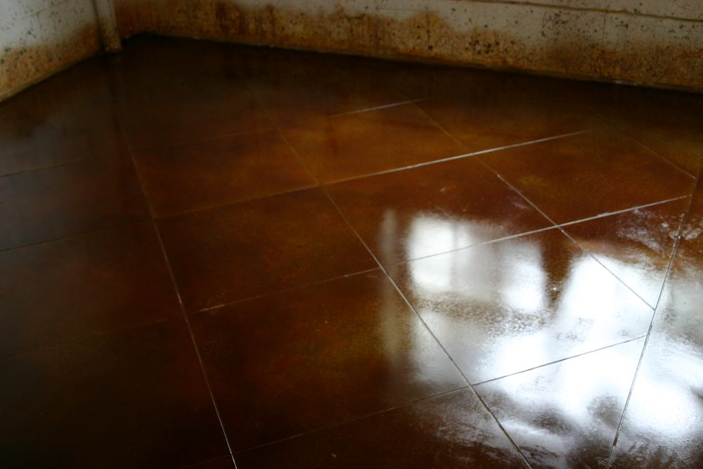 Rust Brown Stained Concrete