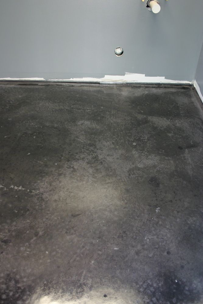 Black Stained Concrete